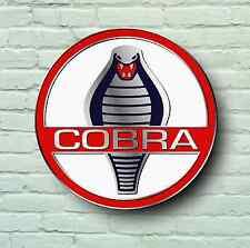 AC COBRA BADGE LOGO 2FT LARGE GARAGE SIGN WALL USA BRITISH CLASSIC CAR WORKSHOP