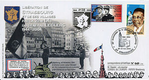 """FDC """"60 years Liberation of Strasbourg - General LECLERC"""" (Strasbourg) 2004"""