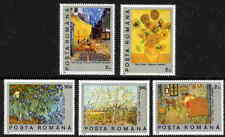 ROMANIA 1991 VAN GOGH PAINTING STAMPS - MINT COMPLETE SET OF 5!