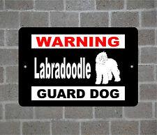 Labradoodle warning Guard Dog breed metal aluminum sign