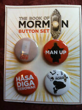 The Book of Mormon pins button set of Four Broadway NYC London