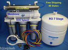 7 Stage RO+ DI + UV Reverse Osmosis Water Filter / Tank