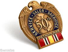 Vietnam War Era Veteran 5Oth Anniversary Medal National Defense Ribbon Pin