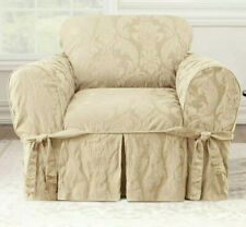✅ Surefit Slipcover For T-Chair, Matelasse Damask Tan, ‼� Read Description ‼�