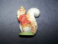 Beatrix Potter - Timmy Tiptoes - 2a Gold Oval - Brown/grey squirrel, red jacket