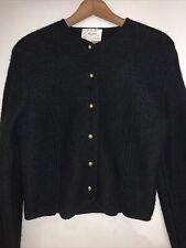 Tally Ho Boiled Wool Cardigan Sweater Jacket Womens Size 10