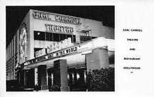 RPPC EARL CARROLL THEATRE Hollywood, CA Theater/Restaurant Vintage Postcard
