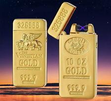 Golden Elektrische Double Pulse Plasma Arc Feuerzeug / USB - Aufladung Feuerzeug
