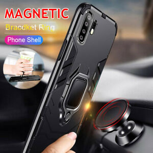 Shockproof Armor Case For Huawei P30 Pro P20 Magnetic Car Ring Phone Stand Cover
