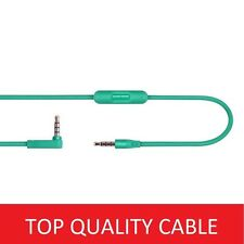 Green Cable/Lead for Beats By Dre Headphones Solo HD/Studio Audio ControlTalk