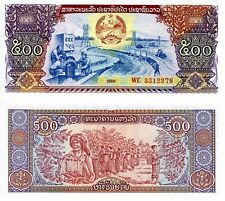 LAOS 500 Kip Banknote World Paper Money UNC Currency Pick p31 1988 Bill (LAO)