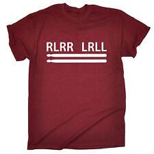 RLRR LRLL Drummer T-SHIRT drum band music novelty funny birthday gift present