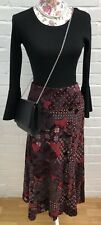 Steilmann Skirt Size 14 Red Black Long Maxi Party Occasion Goth Steampunk