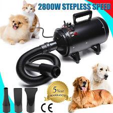 More details for 2800w pet dog hair dryer grooming fur stepless speed heater blaster hairdryer