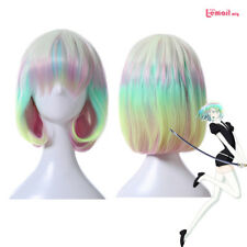 Land of the Lustrous Diamond Bob Wigs Mixed Colorful Short Straight Cosplay Wig