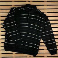 Mens Polo Rugby Long Sleeve Paul Shark Sweatshirt Striped Size XXL 2XL Vintage