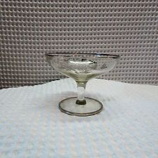 Vintage! Sterling Silver Overlay Glass Candy Dish