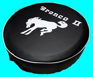 SpareCover® ABC Series - FORD BRONCO II W Horse 29 Black Heavy Vinyl Tire Cover