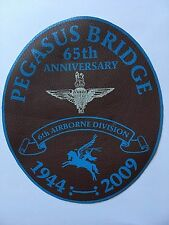 PEGASUS BRIDGE 65TH ANNI 6TH AIRBORNE DIVISION 1944-2009 LARGE LEATHER PATCH