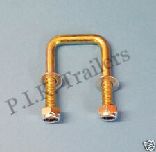 FREE P&P* 40mm x 40mm HIGH TENSILE U Bolt with Locking Nut - Trailers