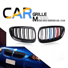 For BMW 06-10 E92 E93 328i 335i Front Kidney Grille Grill Cover M Color Black