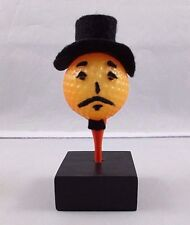 Vintage Pumpkin Jack O Lantern Golf Ball and Tee Halloween Autumn Craft Figurine