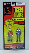 Teen Titans 2 Figure Pack Puppet King Aqualad Long Red Card BanDai NIP S162-10