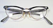 12K GF Art Craft Vintage Cat Eye Green Silver Swirl 4 1/2- 5 1/2 VSA Eye Glasses