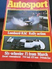 Autosport Magazine 2 December 1976 Lombard RAC Rally Action Golf GTI Road Test