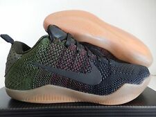 "NIKE KOBE XI ELITE LOW 4KB ""BLACK HORSE"" BLACK-TEAM RED-GREEN SZ 8 [824463-"