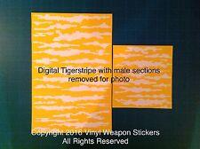 Digital Tiger Stripe vinyl stencil For Duracoat, Cerakote, Krylon, New Design!