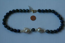 Lapis Lazuli-Kette,Kugel, fac.10,5mm. L=42cm) K-0785/K