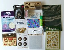 Job Lot of 12 Mixed Crafts, Glitter Glue, Embellishments & More Lot 19