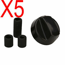 5 X Black Universal Electrical Gas Stove / Oven Knobs With 3 D Shaft Inserts