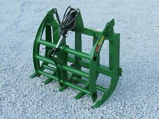 48 Root Rake Clam Grapple Attachment Fits John Deere Compact Tractor Loader