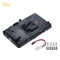 Rolux RL-IS2 V-lock DIY Power Supply Battery Plate for Sony BMCC BMPCC Camcorder