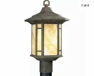 PROGRESS LIGHTING P5428-46 Weathered Bronze Post Lantern Outdoor Home READ*