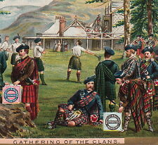 Scottish Clan Games Hammer Throw Huntley & Palmer Biscuit Advertising Trade Card