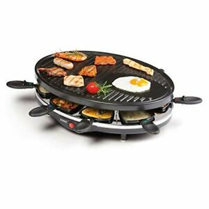 Domo DO9038G Raclette Grill, 1200 W, Black - Outdoor Cooking Grill - Raclette