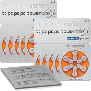 60x VARTA powerone Hörgerätebatterien P13 orange (10x 6er Bl.) + Reinigungstuch