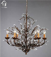Hot Selling New Vintage crystal Chandelier Brown Finish Free Shipping