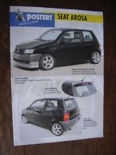 Postert Seat Arosa Tuning Prospektblatt / Sales sheet, D