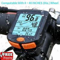 HOT! Wired Cycling Bike Waterproof Computer LCD Bicycle Speedometer Odometer USA