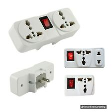 1pc. NSS 3-way Universal Power Plug Dual Socket Adapter with Switch