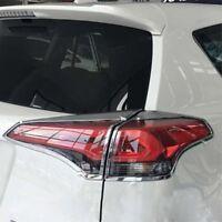 For Toyota RAV4 2016 2017 Chrome Rear Tail Light Lamp Cover Trim Frame Moulding