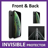 iPhone XS MAX Screen Protector Invisible FRONT and BACK Shield - Military Grade