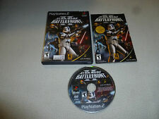 GAME PS2 PLAYSTATION 2 STAR WARS BATTLEFRONT II  COMPLETE W CASE & MANUAL POTF >