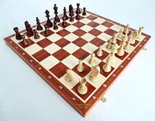 BRAND NEW WEGIEL TOURNAMENT NR 6 WOODEN CHESS SET 52cm WITH WEIGHTED PIECES