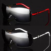 New Khan Designer Shield Sunglasses Trendy Sport Metal Style Men Uv 400 Shades