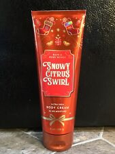 Bath & Body Works SNOWY CITRUS SWIRL Body Cream Lotion 8 oz Nearly Full